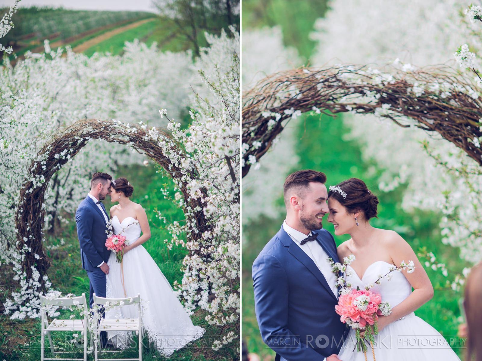 Niski kok z opaską ślubą.