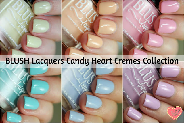 BLUSH Lacquers Candy Heart Cremes Collection Swatches