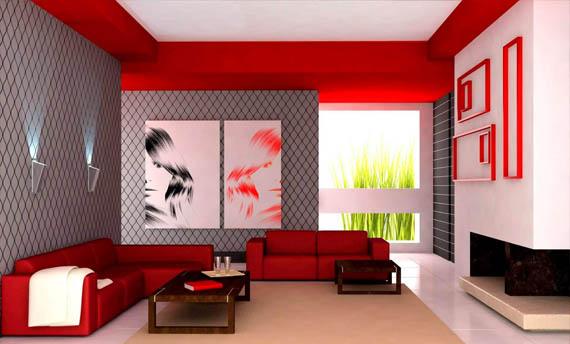 Kombinasi Warna Plafon Ruang Tamu dan Modelnya