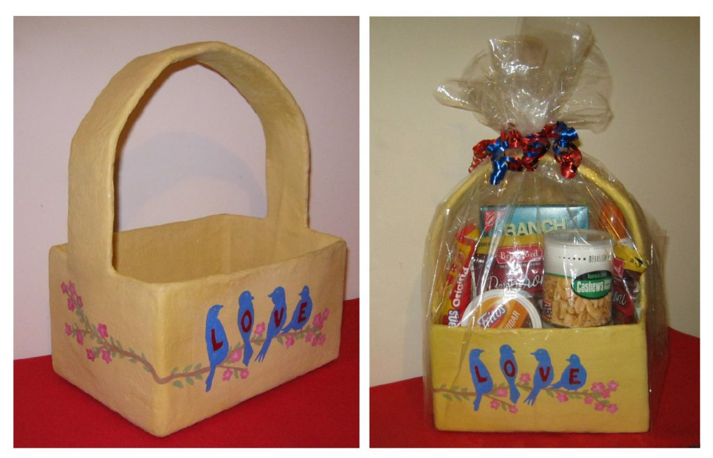Acrylic painting and crafty ideas hand painted easter baskets hand painted easter baskets negle Choice Image