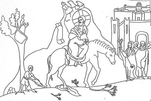 jesus triumphal entry coloring pages - photo #19