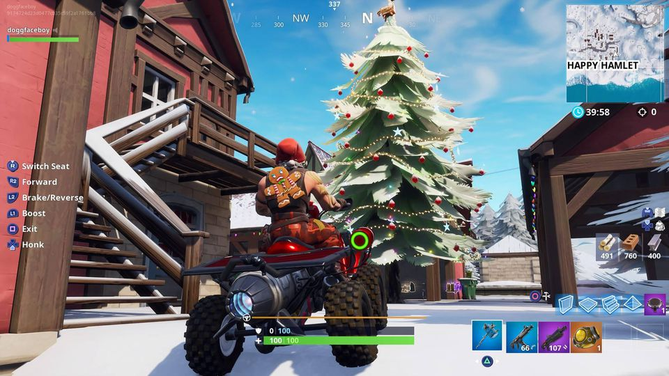 Where 9 Dancing Christmas Trees On Fortnite Battle Royale 14