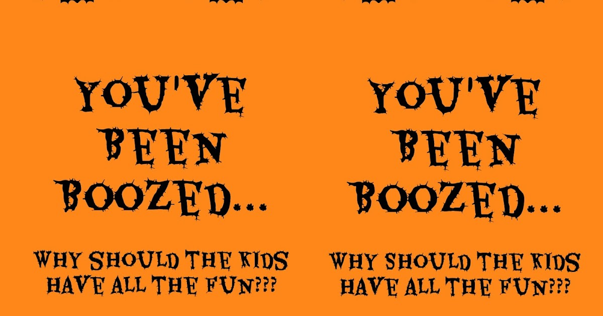 image about You've Been Boozed Printable known as The Pleased Minor Hive: Youve Been Boozed [Model 2]
