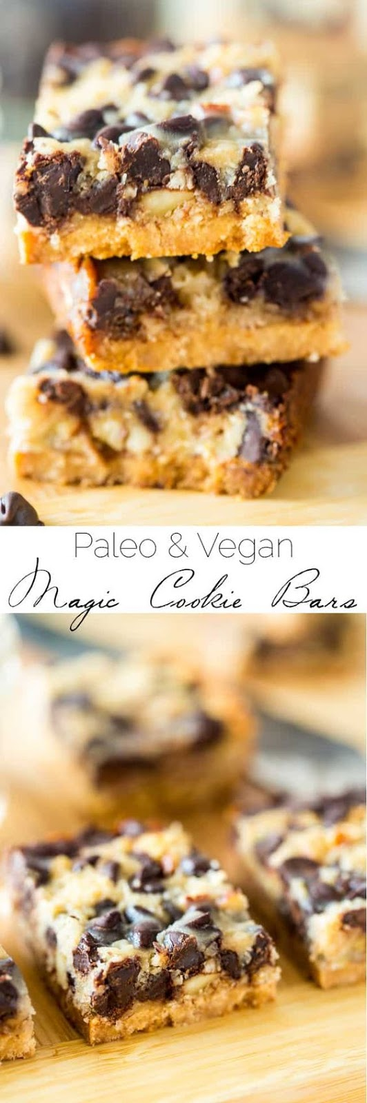 Vegan and Paleo Magic Cookie Bars - These magic cookie bars are a healthier remake of the classic dessert! You'll never know they're gluten, grain, dairy and refined sugar free! | #Foodfaithfitness | #Paleo #vegan #healthy #glutenfree #dessert