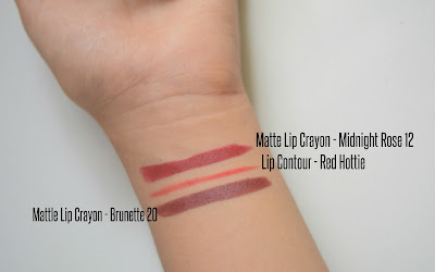 Faces cosmetics swatches