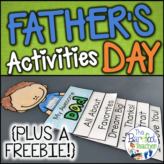 This Father's Day Flip Book activity is fun, easy, and will go along with the other cards, gifts ideas, and crafts you have planned for your kids to do for their dads, uncles, or grandfathers. 6 tabs provide info that shows how much your PreK or Kindergarten littles love their special someone while incorporating writing practice at the same time. Simple cutting and easy assembly allows all students to happily succeed! #fathersday #fathersdaycrafts #endoftheyear #endoftheyearactivities #flipbook