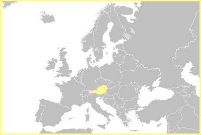 Situación de Austria en Europa