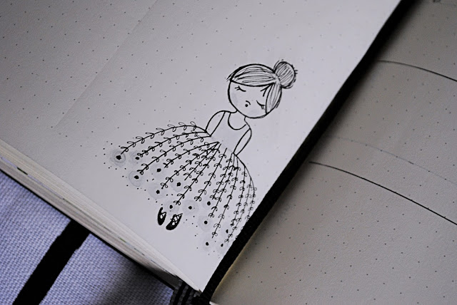 flower girl doodle