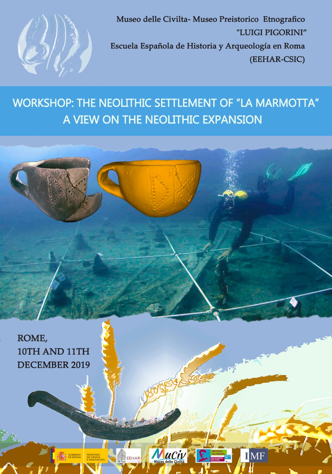 """Seminario internacional The Neolithic Settlement of """"La Marmotta"""". A View on the Neolithic Expansion."""