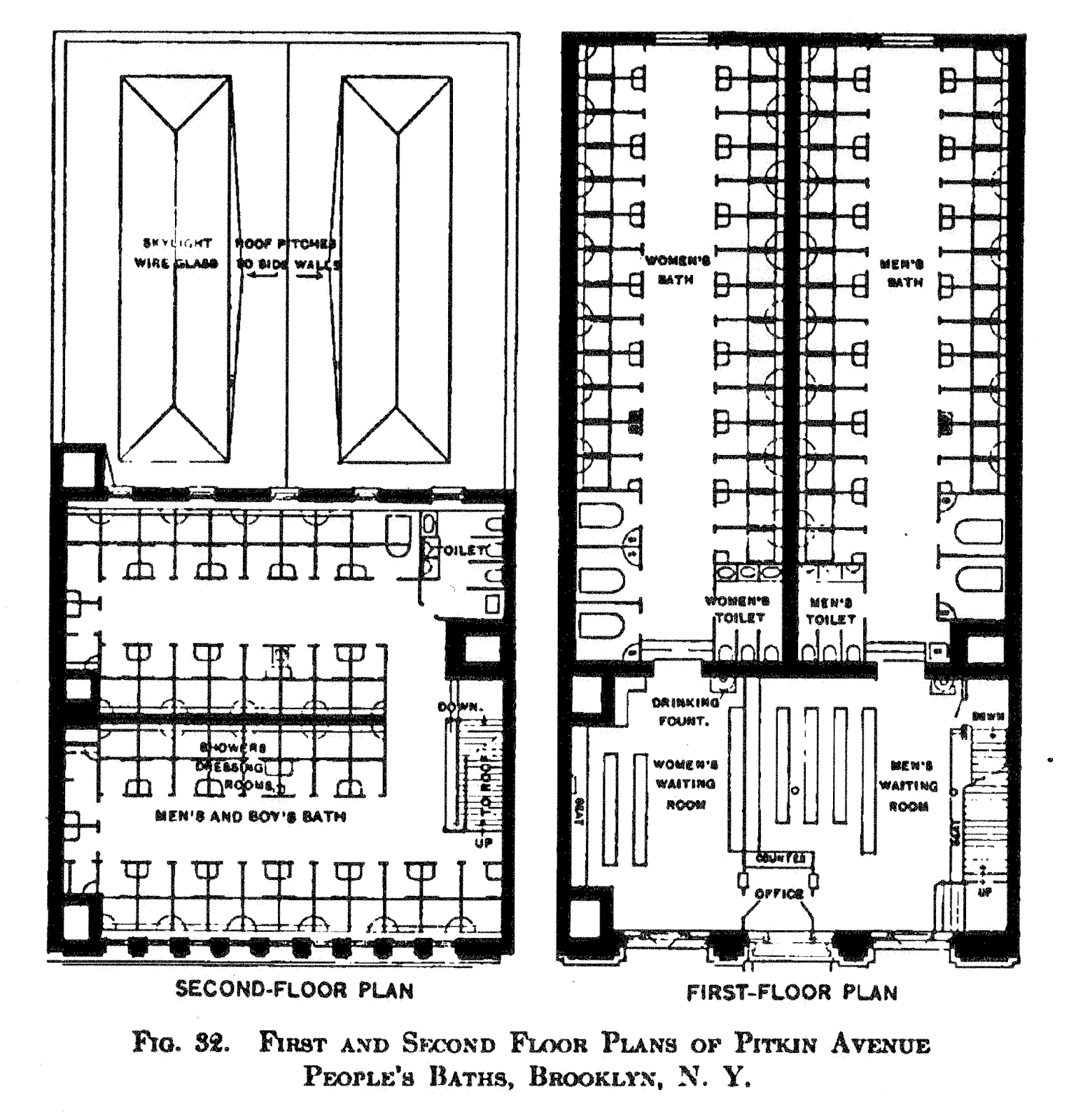 Type B NY Public Bath Floor Plan