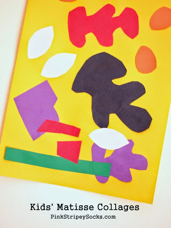 Easy Art Activity for Toddlers:  Matisse Inspired Collages