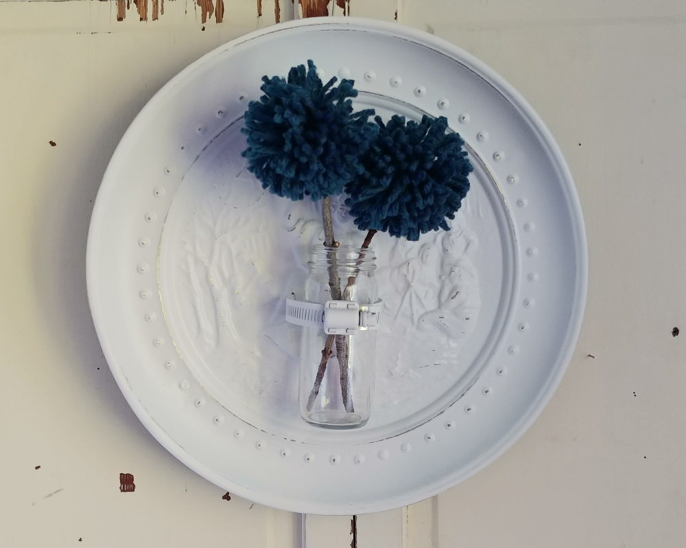 Upcycled plate wall vase