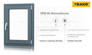 Seria okien DPQ-82 thermoSecure DAKO – cieply wymiar bezpieczeństwa