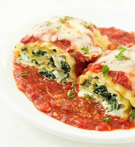 Spinach Lasagna Roll-Up #dinner #healthyrecipe
