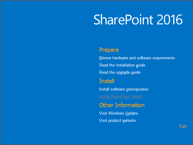 sharepoint 2016 installation steps