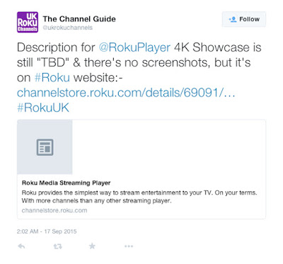 UK Roku Channels