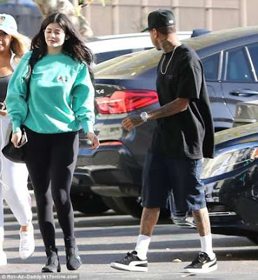 kylie jenner and tyga at the movies