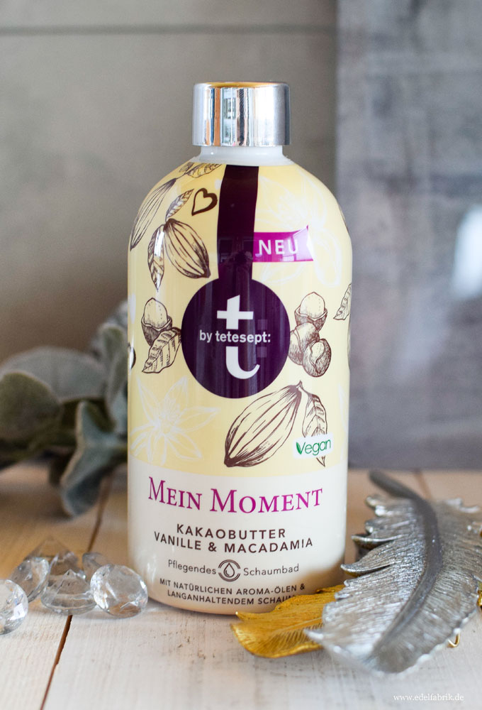 t by tetesept: Mein Moment Kakaobutter, Vanille, Macadamia Schaumbad, Test