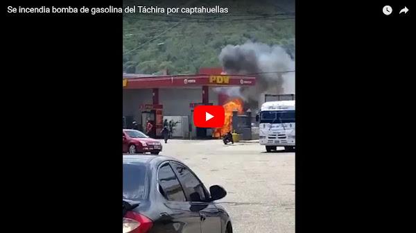 Se incendia bomba de gasolina del Táchira por cortocircuito en el captahuellas
