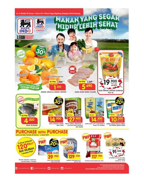 Katalog Super Hemat Super Indo Yogyakarta Magelang Solo Gumpang Salatiga  dan Semarang 28 Februari sampai 4 Maret 2019
