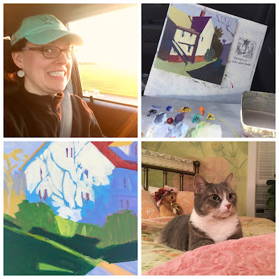 Photo collage from Paint Snow Hill by artist Barb Mowery