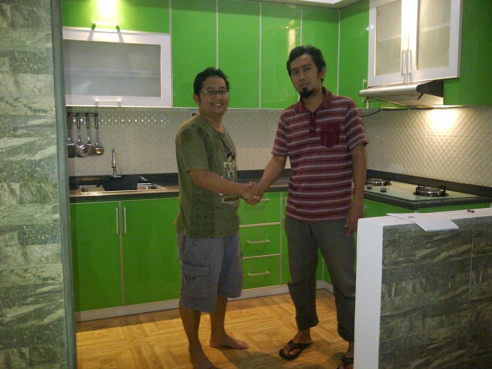 Model Dapur Minimalis Warna Hijau Jasa Kitchen Set Murah
