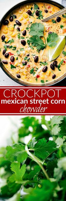 Crockpot Mexican Street Corn & Chicken Chowder