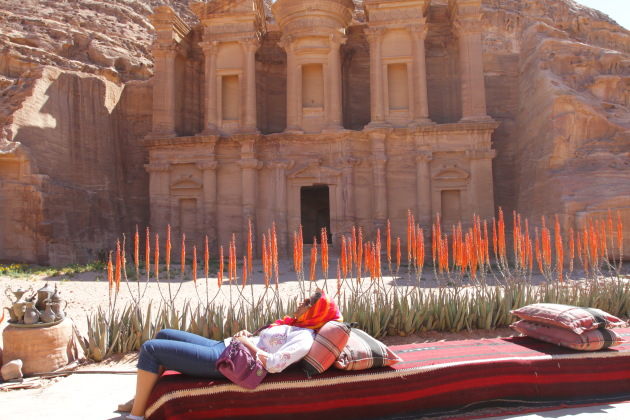 A monastery special sleep, Petra, Jordan