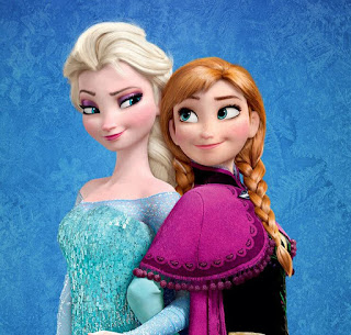 Disney Frozen movie Ana and Elsa