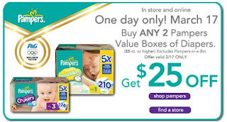 Babies R Us Save 25 Off 2 Pampers Value Box Of Diapers