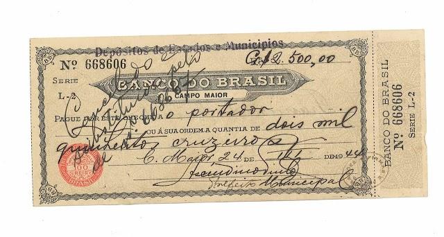 "Curiosidades sobre "" o cheque"""