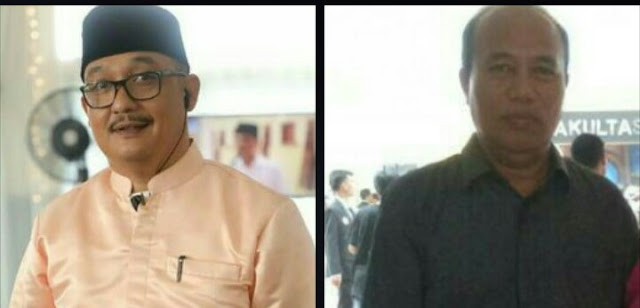 Kabid Pemberitaan Infokom Asahan Arbin Tanjung (kiri), Sekretaris Dinkes Santoso.