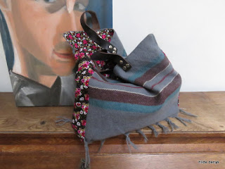 Lovelea's repurposed shawl bag.