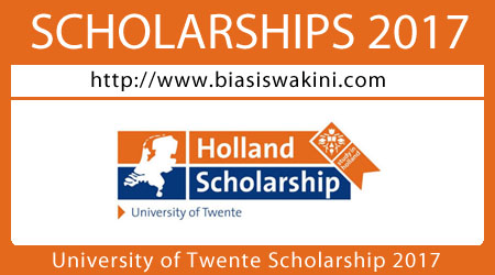 University Of Twente Scholarship 2017