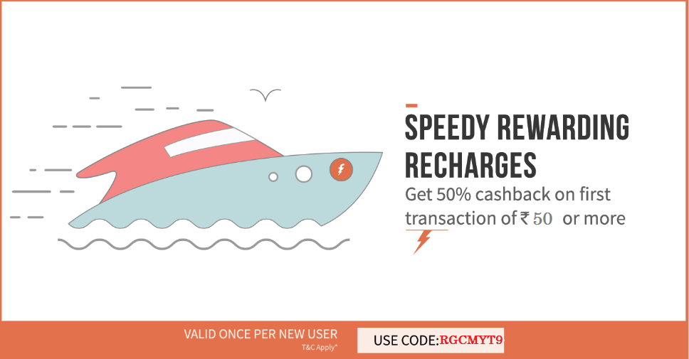 Freecharge New Rs 50 Cashback Offer