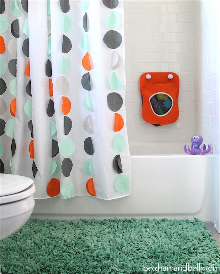 circle applique shower curtain