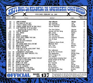 KHJ Boss 30 No. 137 - February 14, 1968