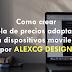 Como crear una tabla de precios adaptable a dispositivos moviles por ALEXCG DESIGN