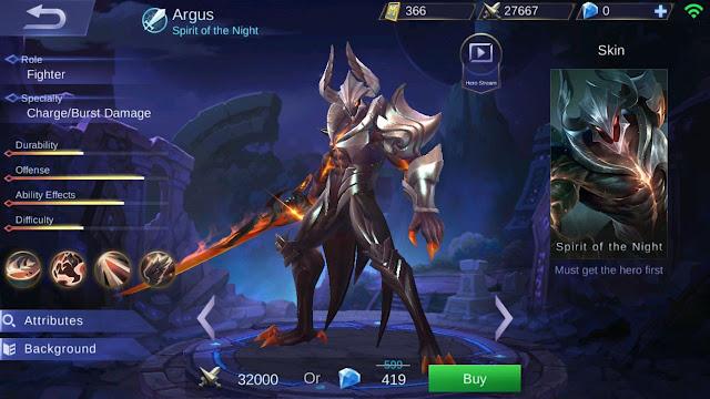 Guide Argus, Build, Skill, Harga, Ability, Set Emblem Yang Cocok, Hingga Tips - Tips Menggunakannya