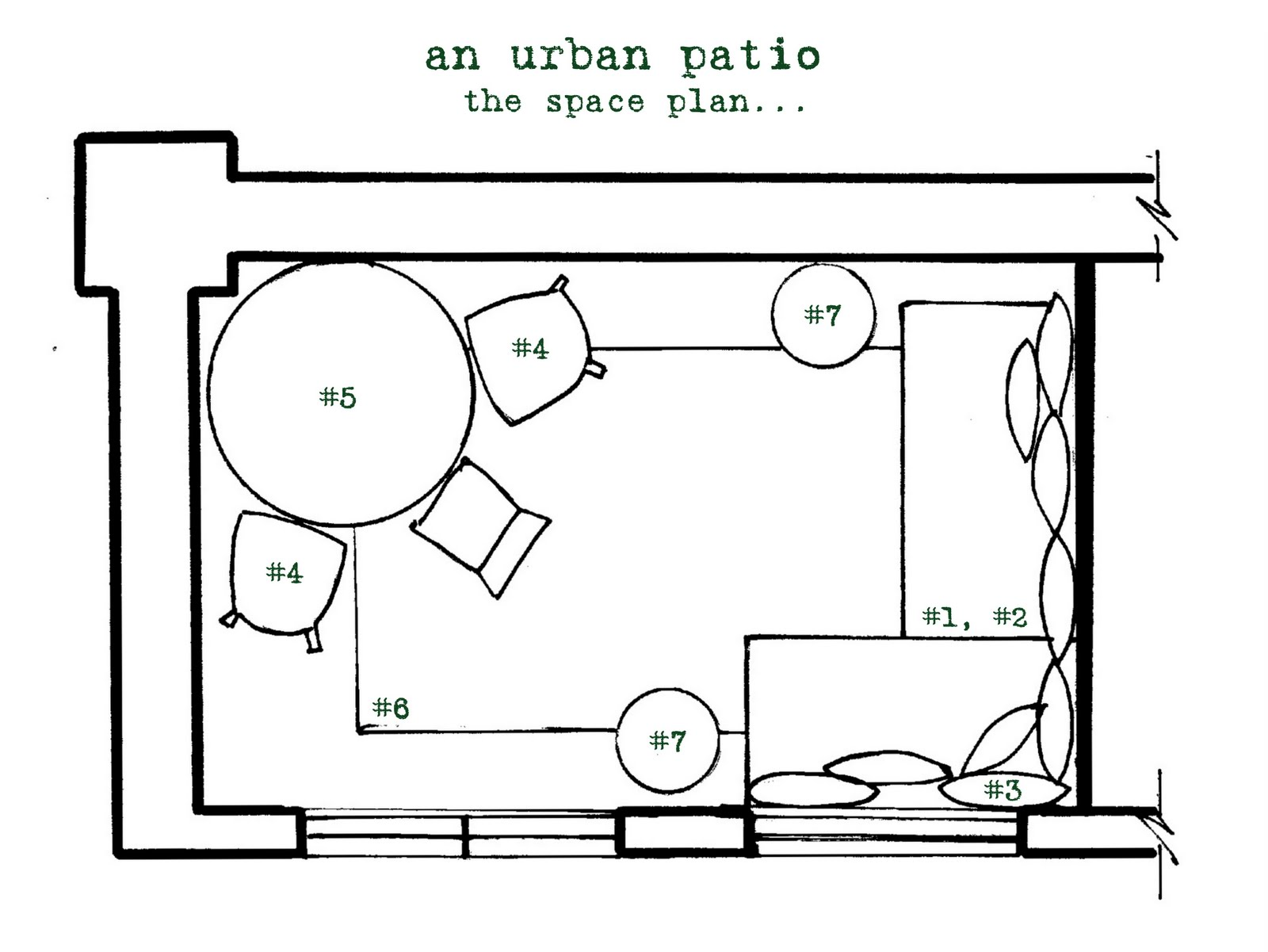 Genus Loci An Urban Patio Plan