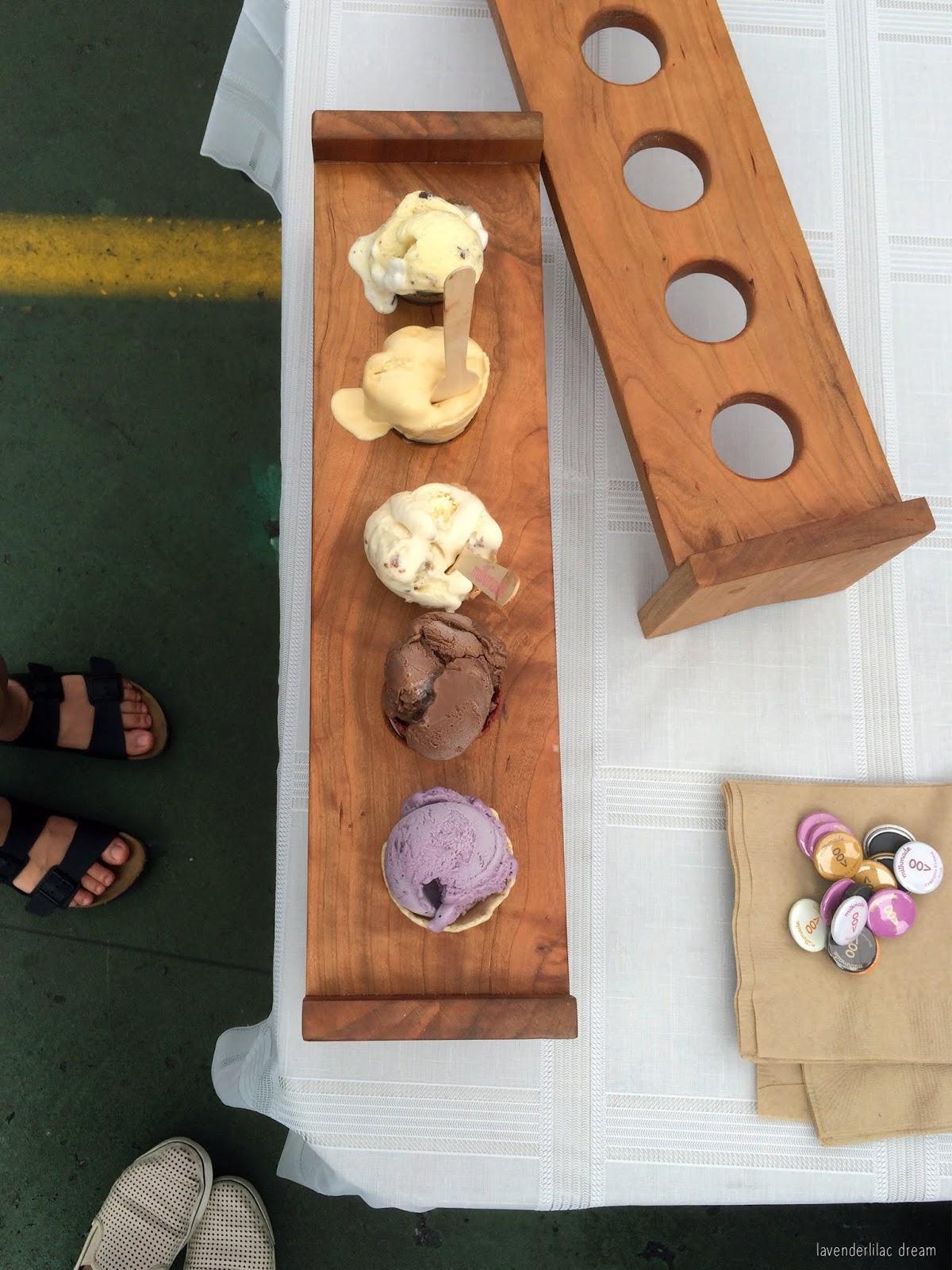 Milkmade Ice Cream Flight at Fort Greene Brooklyn Flea, NYC