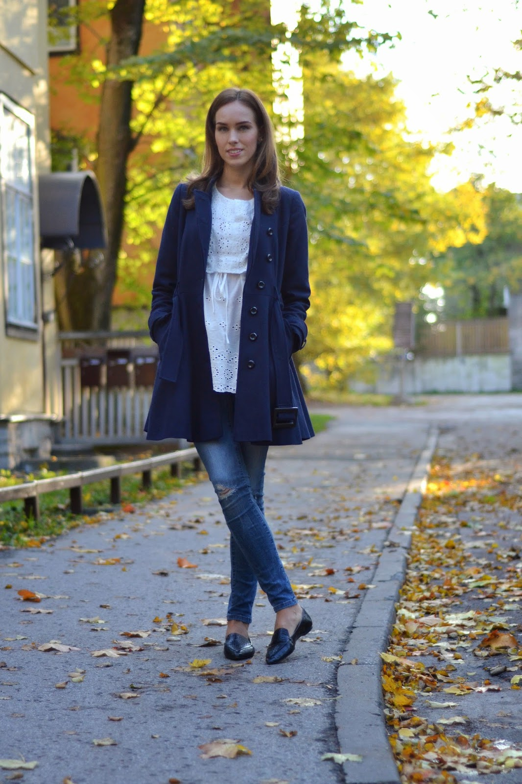 asos-blue-wool-coat-chicwish-top-zara-jeans