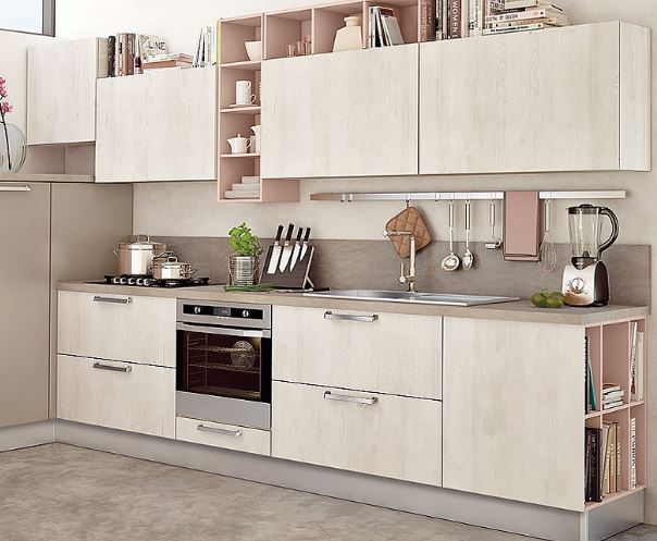 Mẫu tủ bếp laminate chữ I đẹp 2018 dành cho chung cư gia đình trẻ