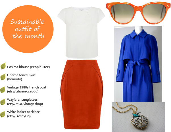 Sustainable outfit of the month - April 2015 - Chic spring fashion