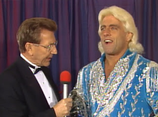 NWA Wrestlewar 1989 - Lance Russell interviews Nature Boy Ric Flair against his title match with Ricky 'The Dragon' Steamboat