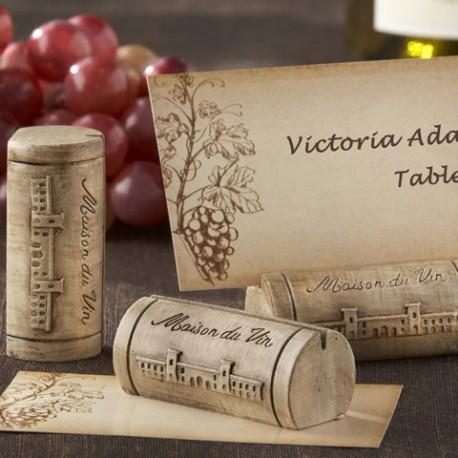 décoration mariage thème vin marque place bouchon bouteille