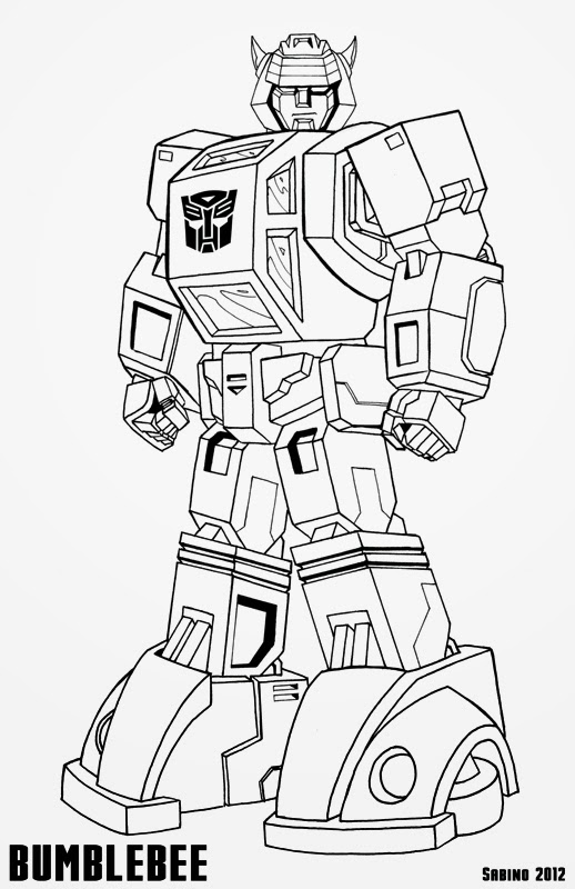 Coloring Pages Hello Kitty Transformers Bumblebee Coloring Page