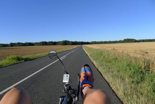 De Paris à la Rochelle en vélo couché, la Véloscénie près de Rambouillet
