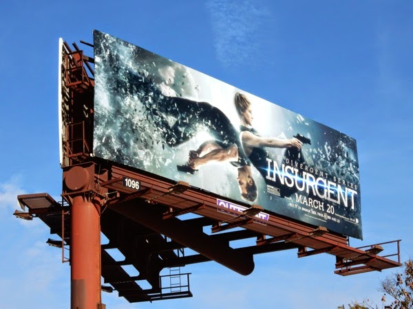 Divergent Insurgent movie billboard