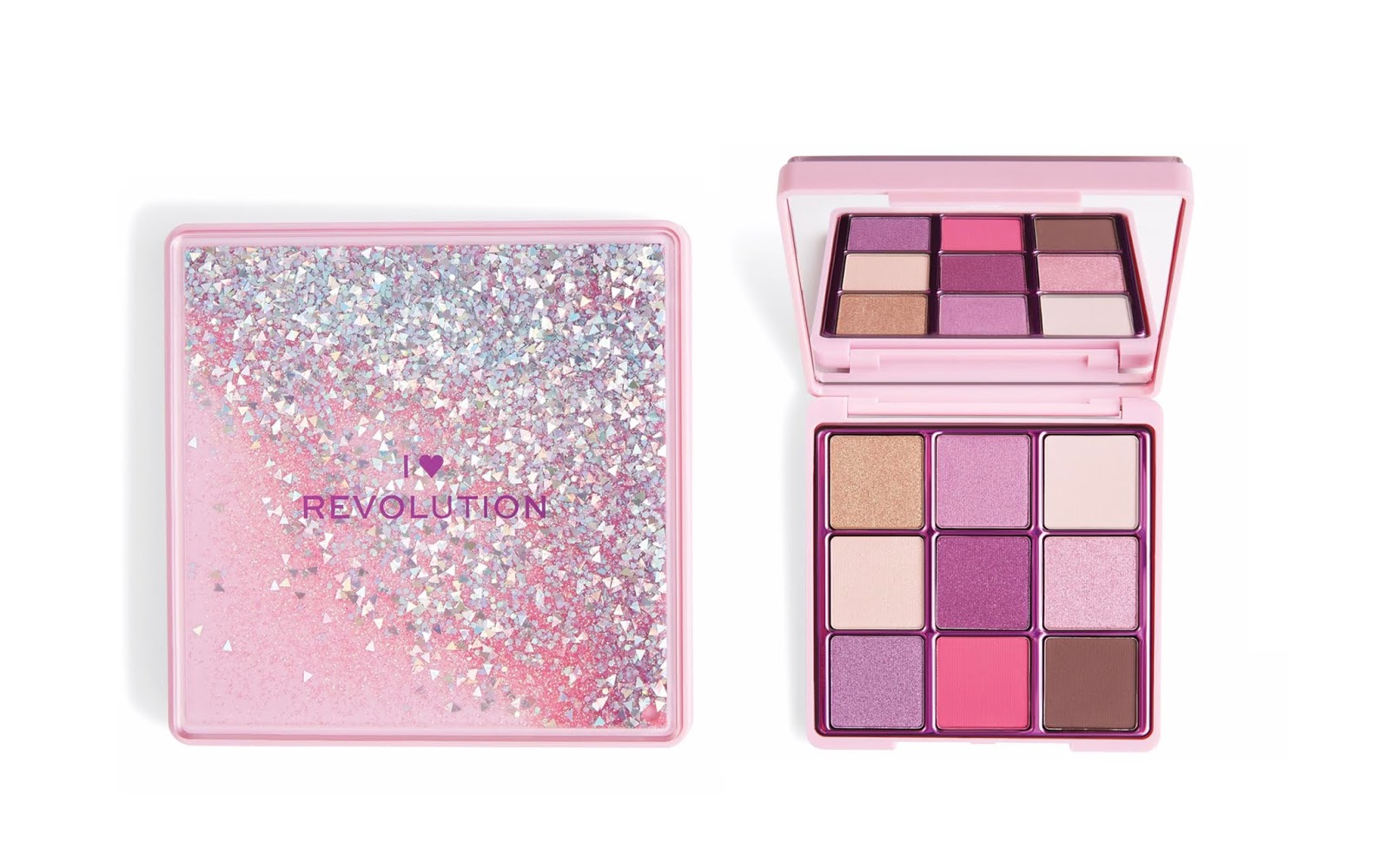 I HEART REVOLUTION , REVOLUTION BEAUTY , I HEART REVOLUTION GLITTER PALETTE,I Heart Revolution One True Love Glitter Palette,I Heart Revolution Fortune Seeker Glitter Palette,I Heart Revolution Starry Eyed Glitter Palette,